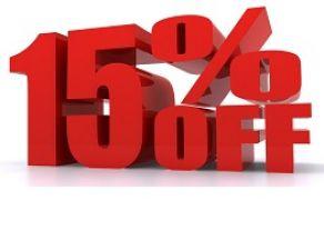 15% отстъпка